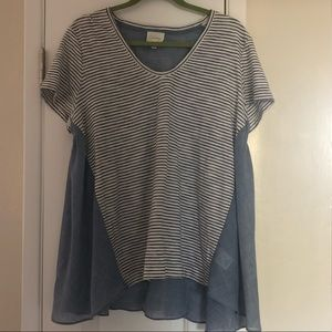 Anthropologie Deletta swing top